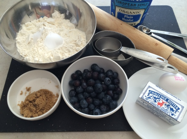 Just a few common ingredients for scone.