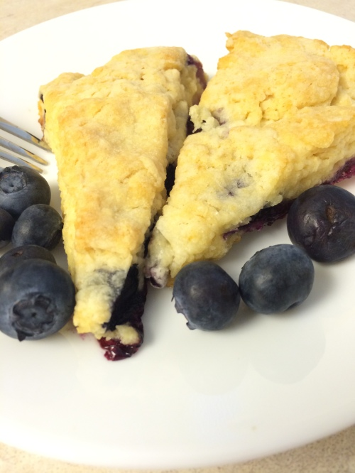 Blueberry Yogurt Scones perfect with tea or coffee.